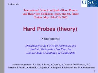 Hard Probes (theory)