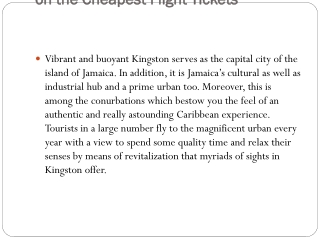 Cheap flights to Kingston