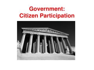 Government: Citizen Participation