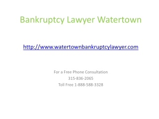 Chapter 7, 13 Bankruptcy Lawyer Watertown, Debt consolidatio