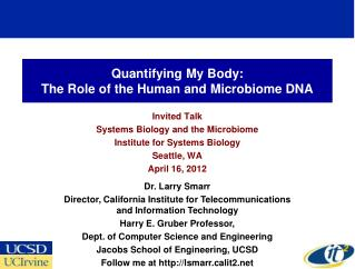 Quantifying My Body: The Role of the Human and Microbiome DNA
