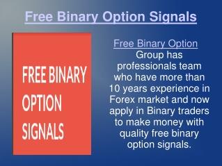 free binary option signals