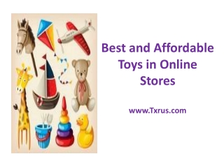 Best and Affordable Toys in Online Stores