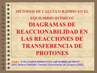 """Fuente: """"CÁLCULOS RÁPIDOS EN EL EQUILIBRIO QUÍMICO"""" (M.A. Belarra Piedrafita; Prensas Universitarias de Zaragoza,2002 )"""