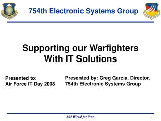 Supporting our Warfighters With IT Solutions