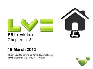 ER1 revision  Chapters 1-3 19 March 2013