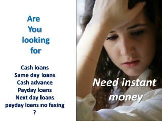 online cash advance loans no faxing- no credit check payday