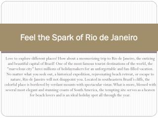 Rio de Janeiro flights and travel guide