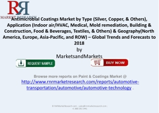 Antimicrobial Coatings Market Trends and Forecasts to 2018