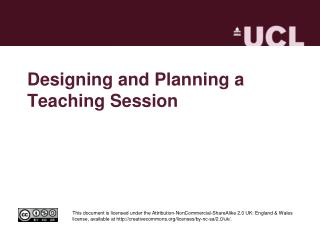 Designing and Planning a Teaching Session