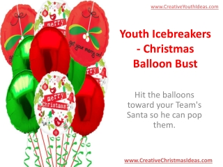 Youth Icebreakers - Christmas Balloon Bust
