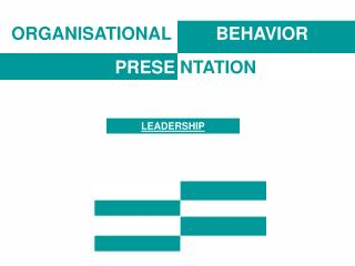 ORGANISATIONAL BEHAVIOR PRESE NTATION