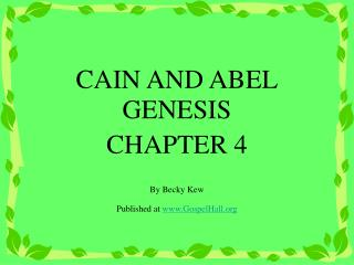 cain and abel analysis