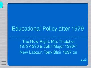 Educational Policy after 1979
