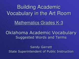 Building Academic Vocabulary in the  Art Room Mathematics Grades K-3