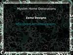 Muslim Home Decorations