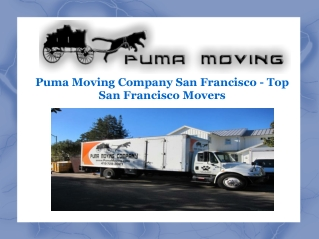Puma Moving Company San Francisco