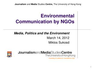 Environmental Communication by NGOs