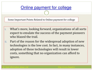 how to make online payment for college