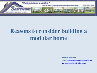 Reasons to consider building a modular home