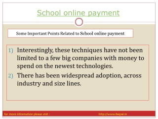 Some steps of  PPT for you to online payment for school