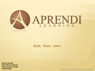 Aprendi Learning Pitch Deck