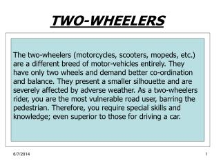 TWO-WHEELERS