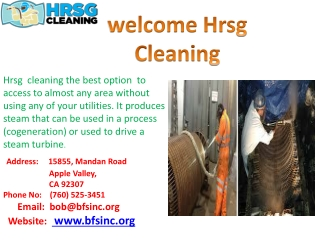 Hrsg  cleaning