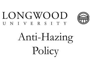 Anti-Hazing Policy