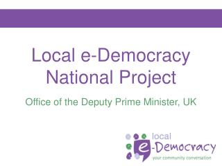 Local e-Democracy National Project