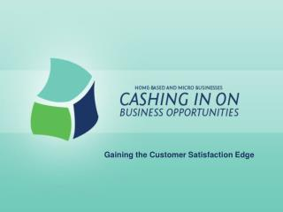 Gaining the Customer Satisfaction Edge