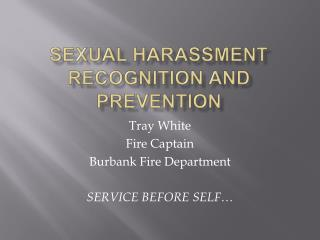 Sexual harassment recognition and prevention