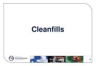Cleanfills