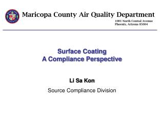 Maricopa County Air Quality Department