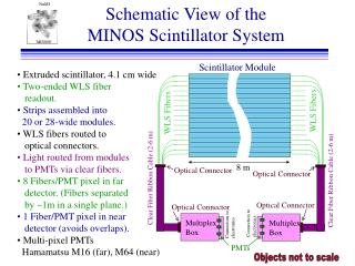Schematic View of the MINOS Scintillator System