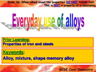 Keywords : Alloy, mixture, shape memory alloy