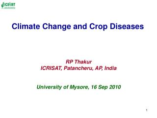 Climate Change and Crop Diseases