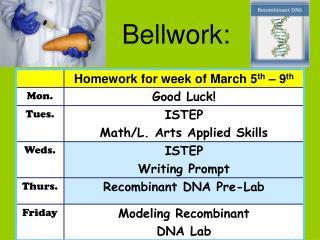Bellwork: