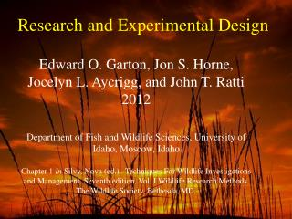 Research and Experimental Design