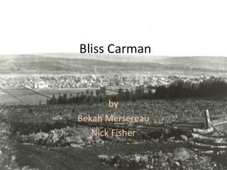 Bliss Carman