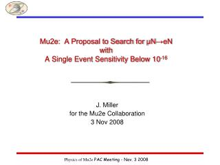 Mu2e:  A Proposal to Search for μN →eN with  A Single Event Sensitivity Below 10 -16