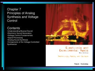 Chapter 7 Principles of Analog Synthesis and Voltage Control