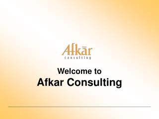 Welcome to Afkar Consulting