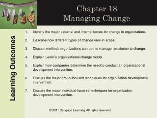 Chapter 18 Managing Change