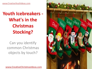 Youth Icebreakers - What's in the Christmas Stocking?