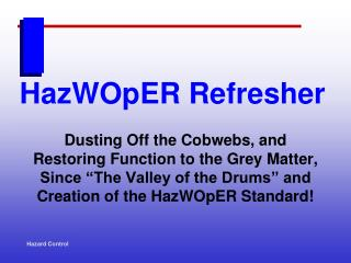 HazWOpER Refresher