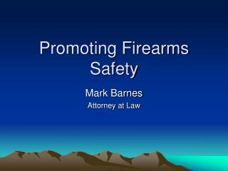 Promoting Firearms Safety