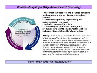 Following are two samples of classroom practice.