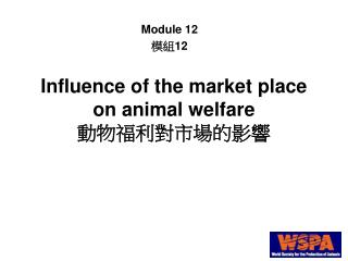 Influence of the market place on animal welfare 動物福利對市場的影響