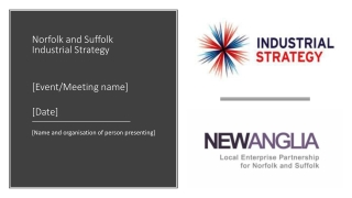 Norfolk and Suffolk Industrial Strategy [Event/Meeting name] [Date]